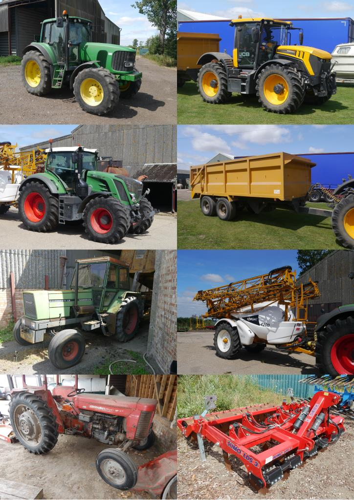 Auction sale of agricultural tractors, implements and
